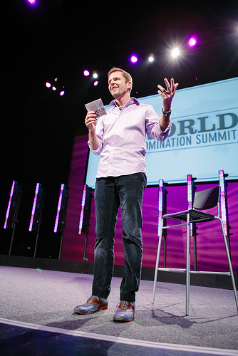 Chris Guillebeau at WDS. (Photo credit: Armosa Studios)