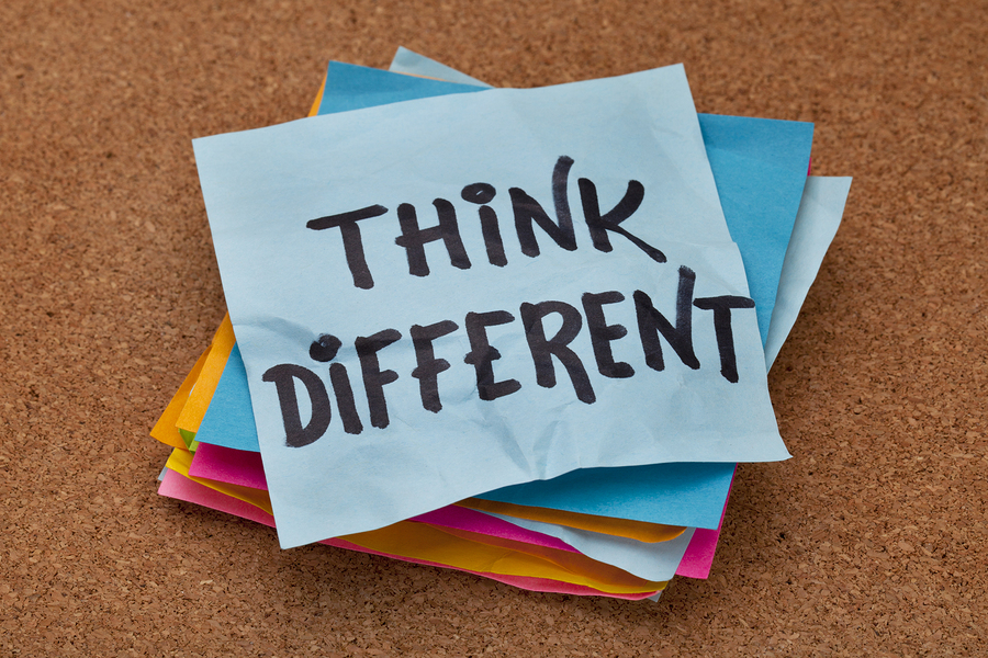 If it doesn't come easy to you, find ways to remind yourself to think differently.