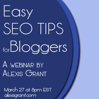 SEO Webinar with AlexisGrant