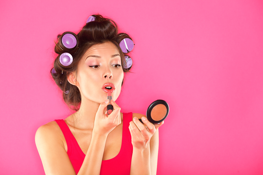 Let's face it: I'm more likely to put makeup on my blog than my face. (Image)