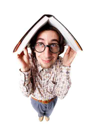 Image: nerd with book