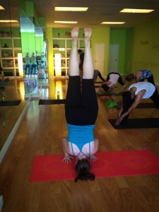 Image: Yoga handstand