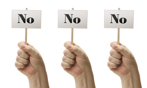 Image: Saying no