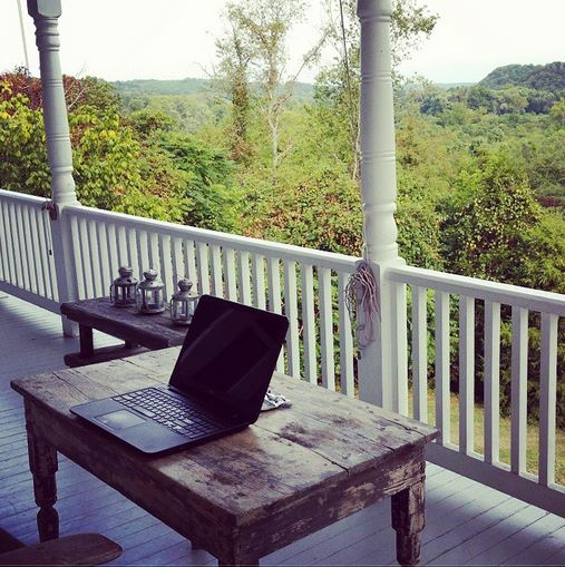 Writing at The Porches in Virginia