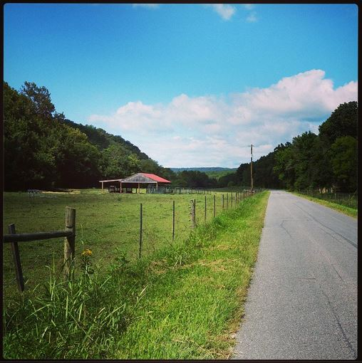 Country roads near The Porches