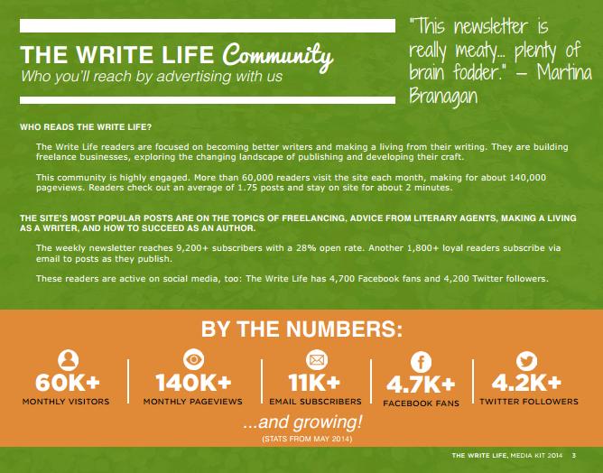 The Write Life Media Kit