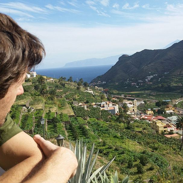 View from our hotel over Hermigua, La Gomera, Spain