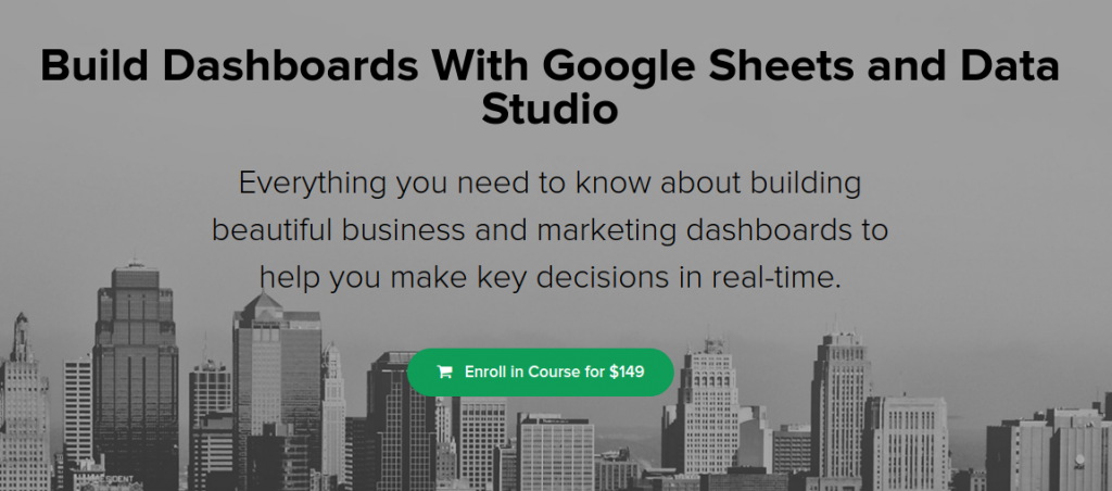 Google Sheets Dashboard Course