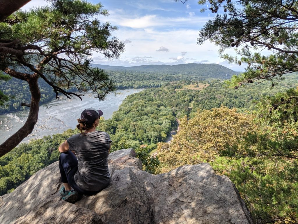 Looking out over Weaverton Cliffs