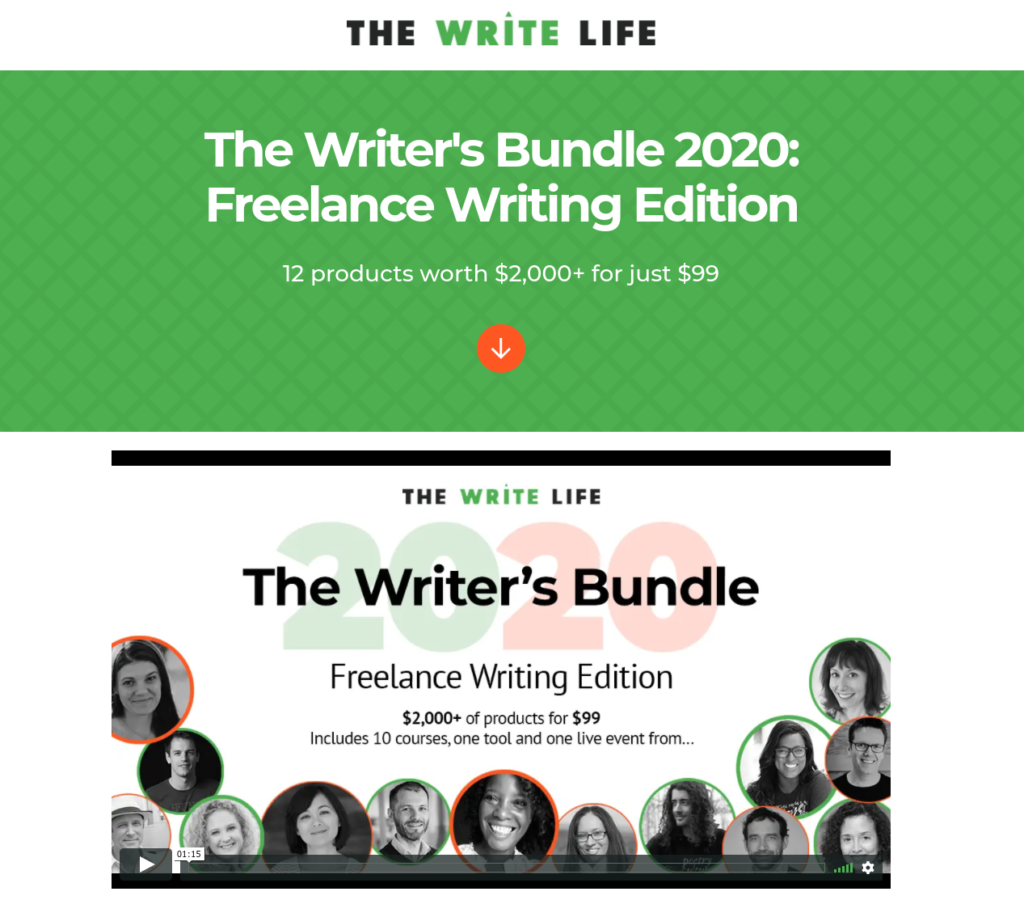 The Writer's Bundle Sales Page