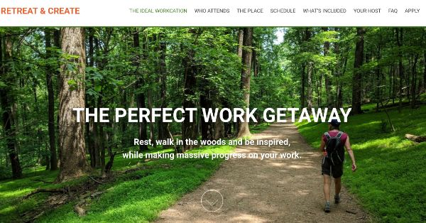 Retreat and Create, professional getaway for women